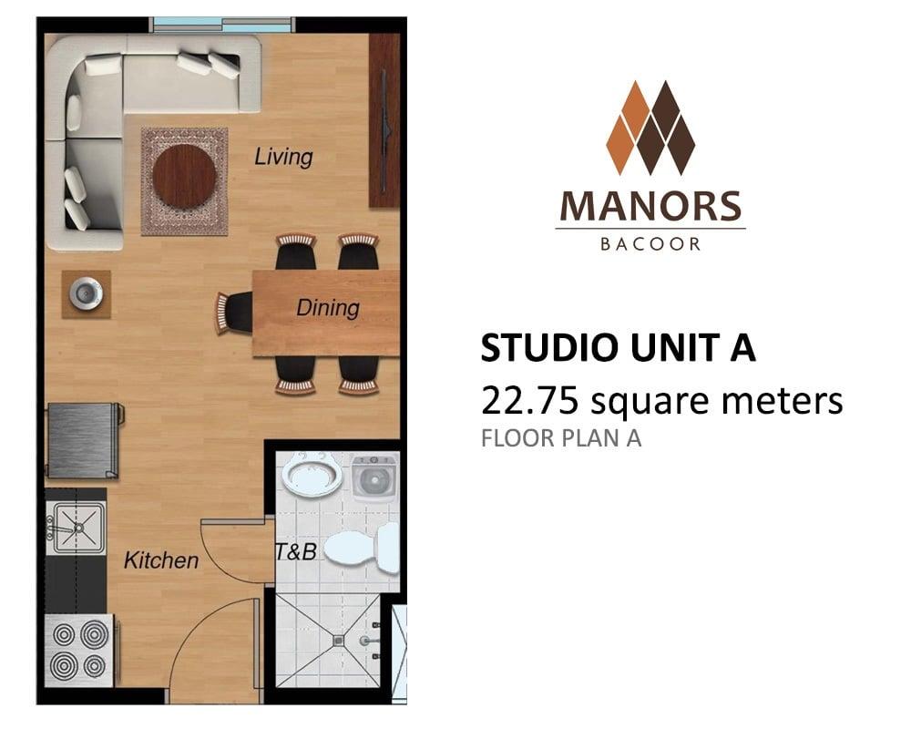 Manors Bacoor - Studio Unit A