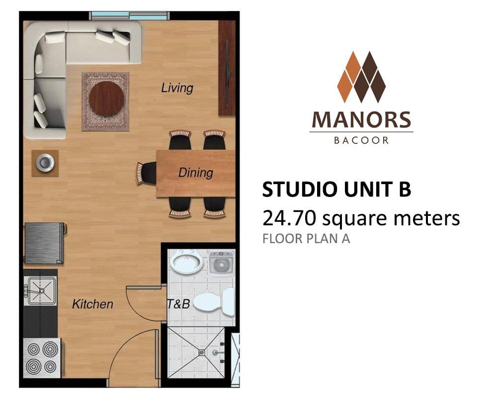 Manors Bacoor - Studio Unit B