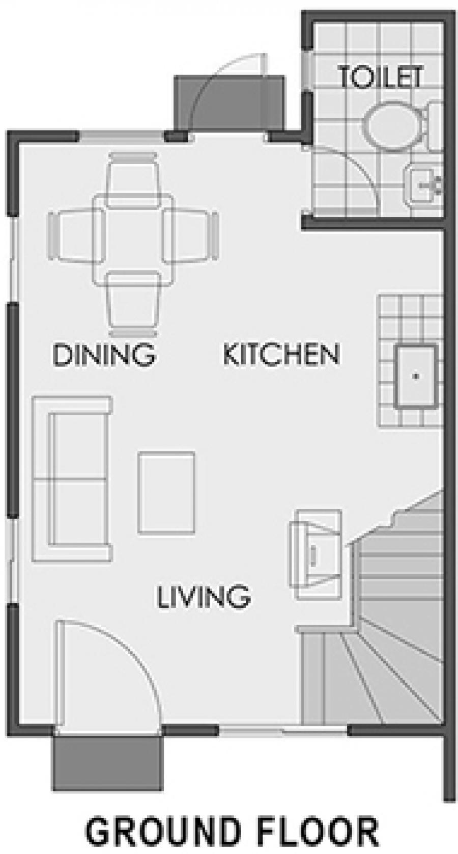 Agusan del Sur - Mikaela-TH Ground Floor Plan