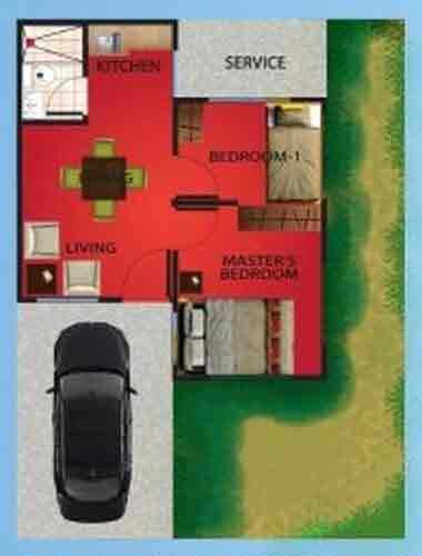Casa Royale - One Bedroom Floor Plan