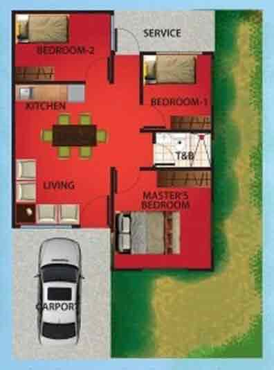 Casa Royale - Two Bedroom Floor Plan
