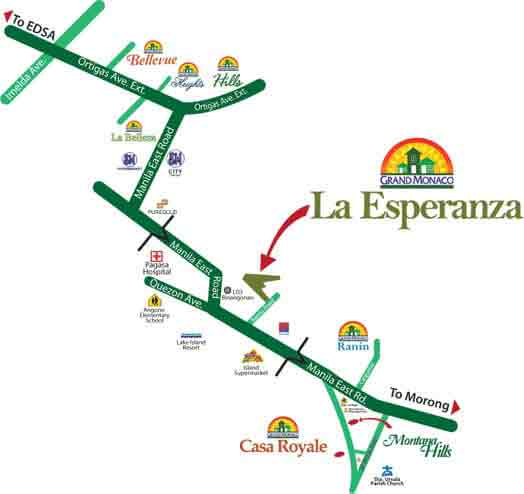 La Esperanza - Location Map