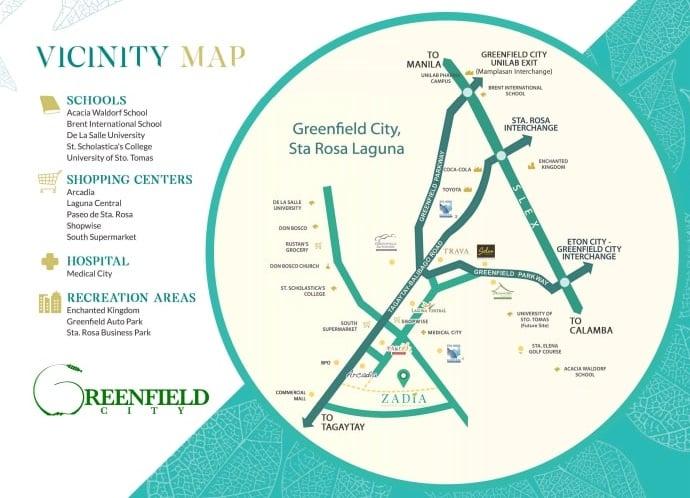 Zadia - Location Map