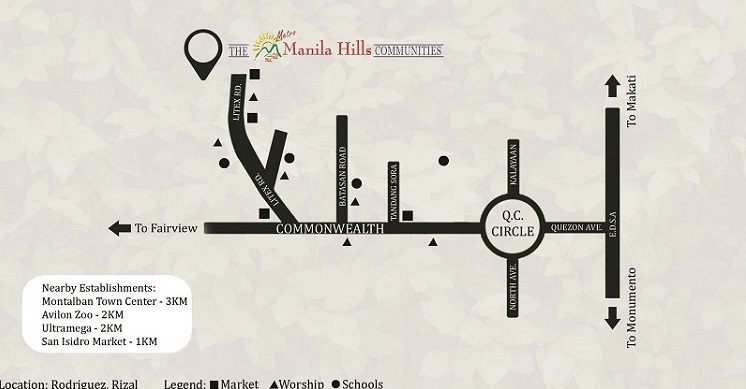 Victoria Villas - Location Map