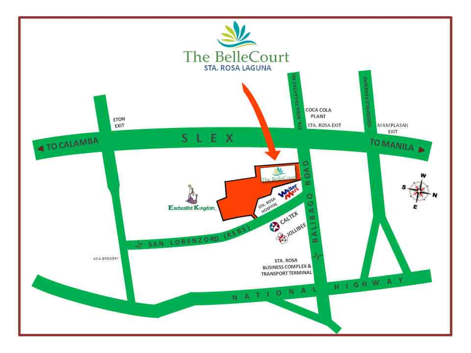 The BelleCourt - Location Map