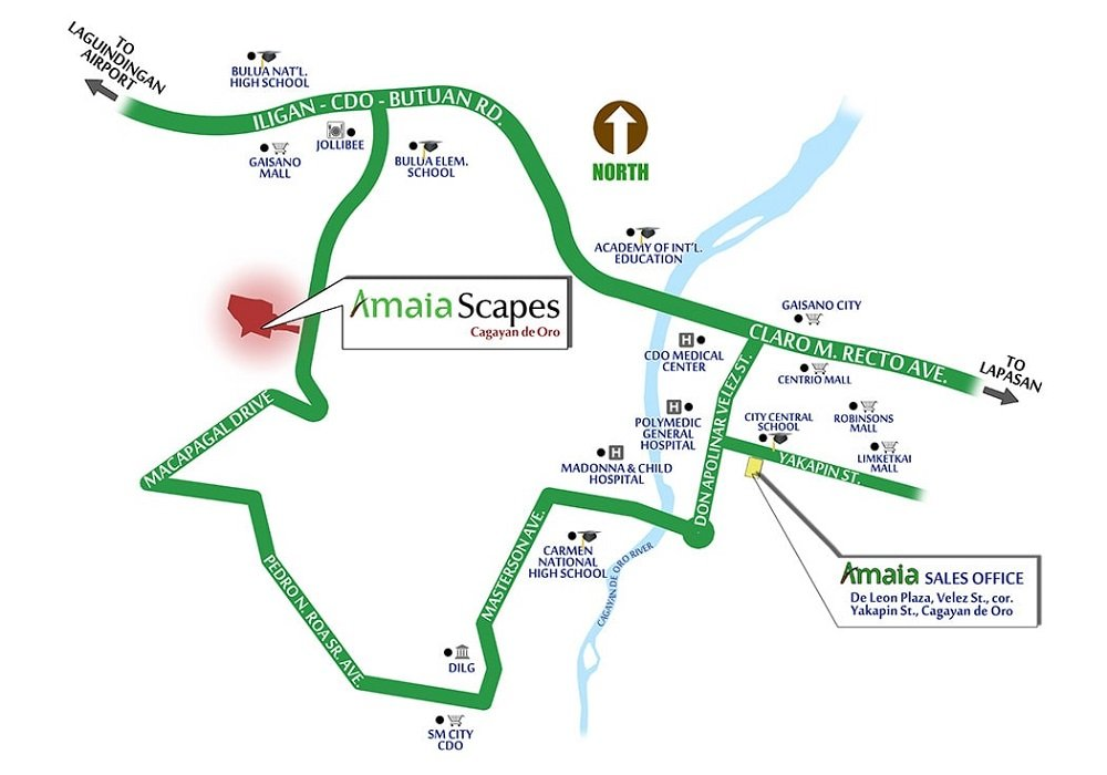 Amaia Scapes Cagayan de Oro - Location Map