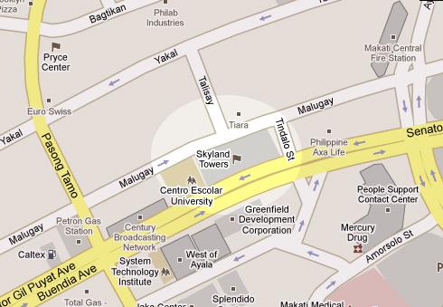 Skyland Plaza Tower - Location Map