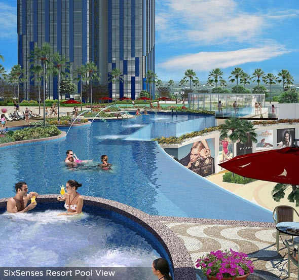 Six Senses Resort - Pool View