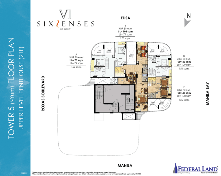 Six Senses Resort - Upper Level Penthouse 21st Flr.