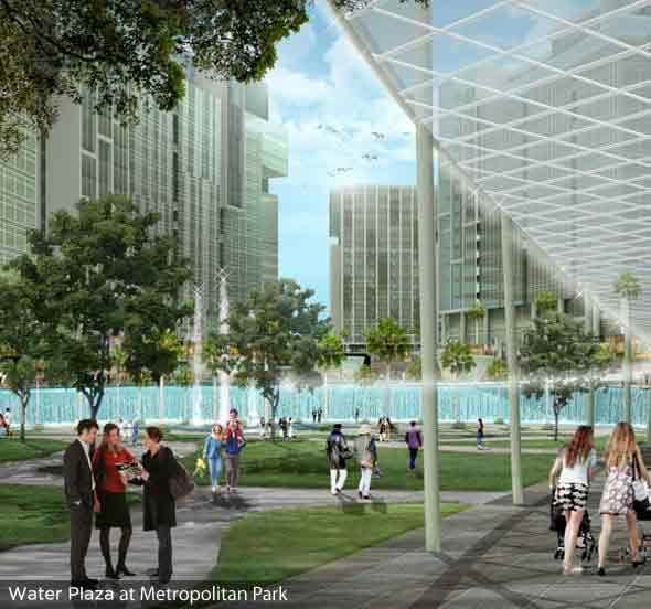 Six Senses Resort - Water Plaza at Metropolitan Park