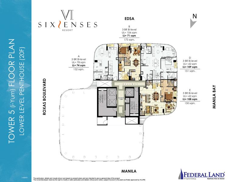 Six Senses Resort - Lower Level Penthouse 20th Flr.
