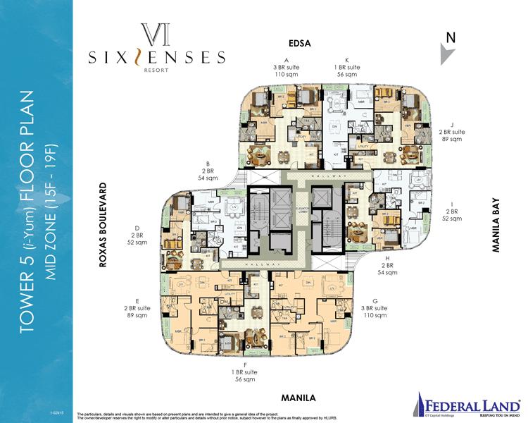 Six Senses Resort - Mid Zone 15-19th Flr.