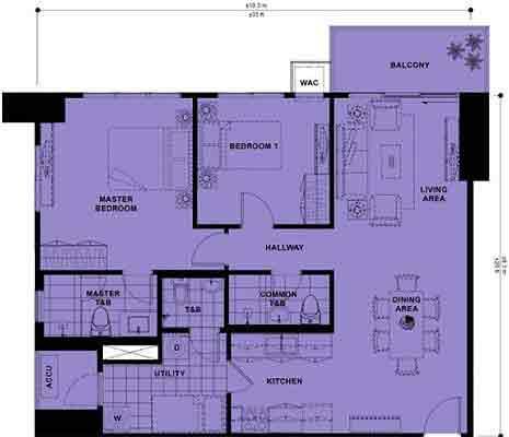 High Park - 2-Bedroom Unit