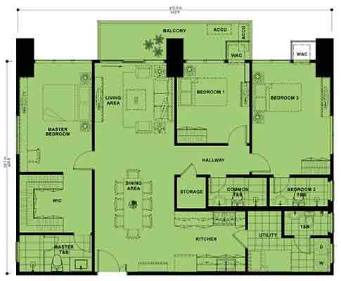 High Park - Three Bedroom Unit