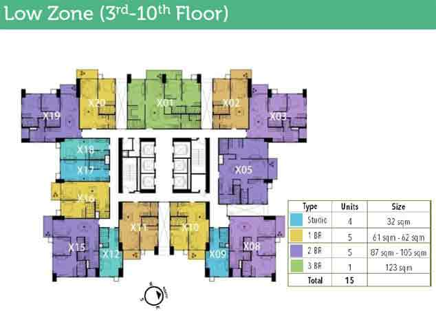 High Park - 3rd - 10th Floor Plan