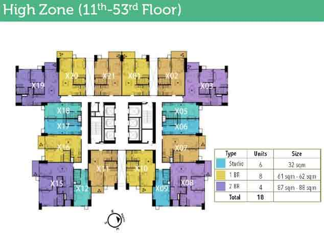 High Park - 11th - 53rd Floor Plan