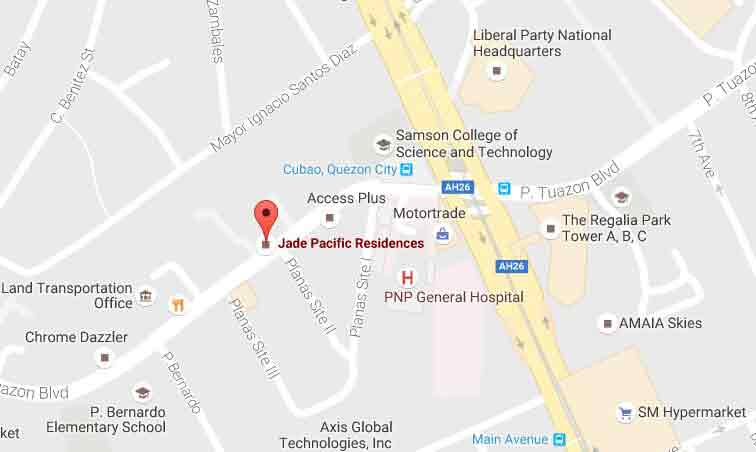 Jade Pacific Residences - Location Map