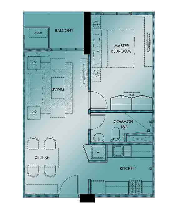 Marquee Residences - 1 Bedroom Unit