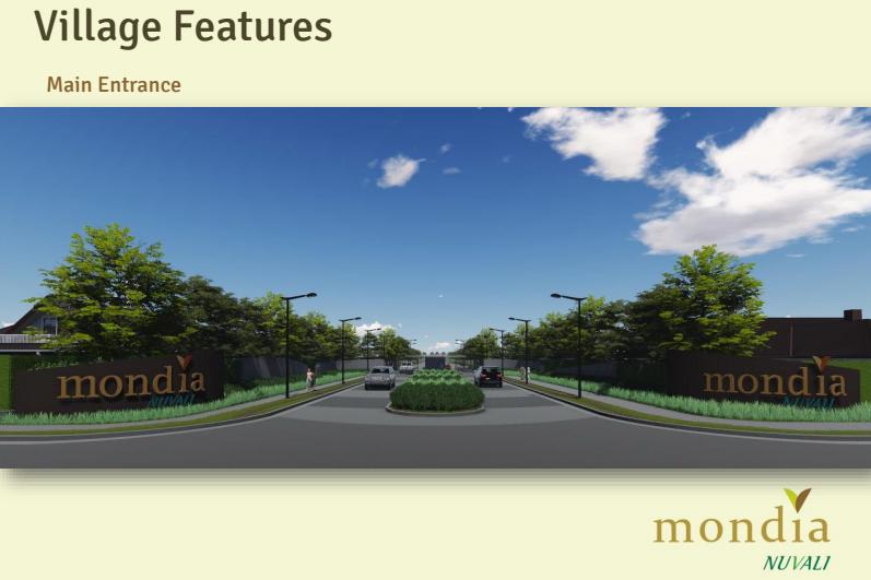 Mondia NUVALI - Main Entrance