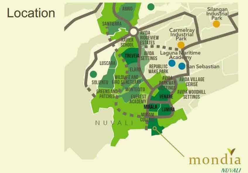 Mondia NUVALI - Location