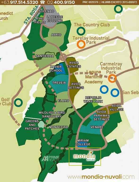 Mondia NUVALI - Map
