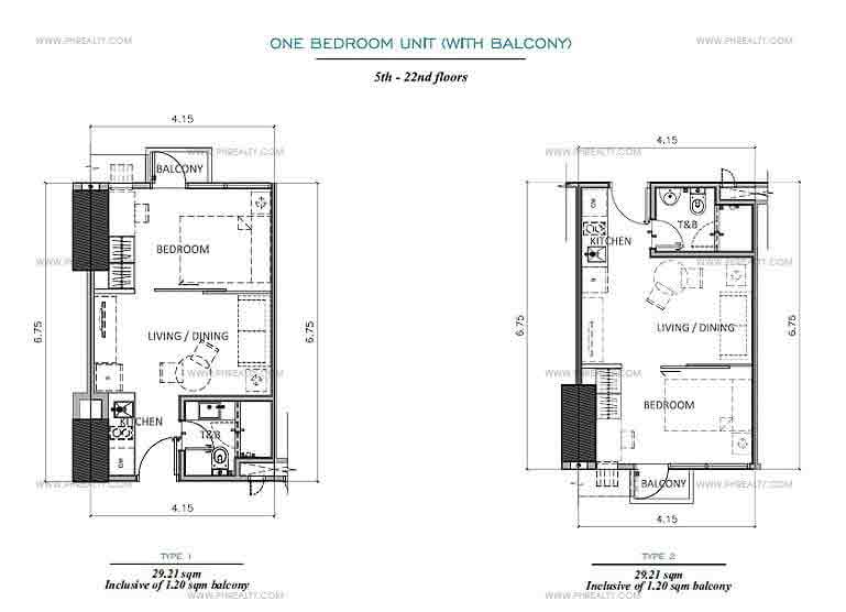 The Rise - 1 Bedroom with Balcony