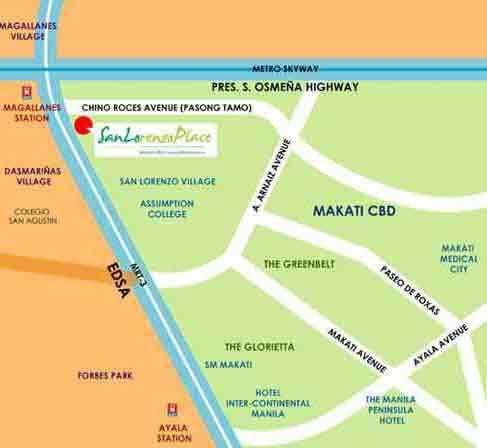 San Lorenzo Place - Location Map