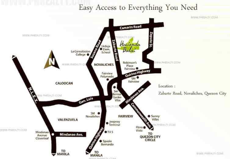 Hacienda Balai - Location Map