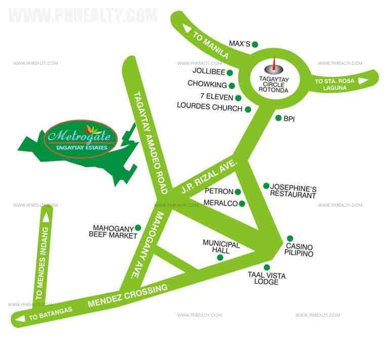 Metrogate Tagaytay Estates - Location