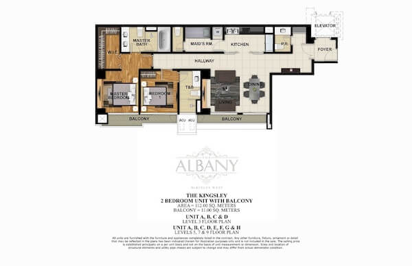 The Albany - 2 BR Unit with Balcony