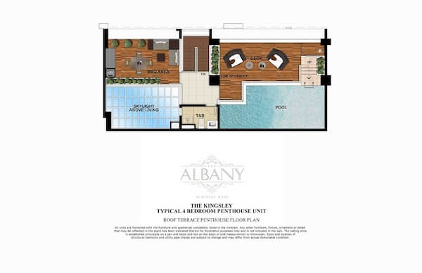 The Albany - Roof Terrace Penthouse Floor Plan
