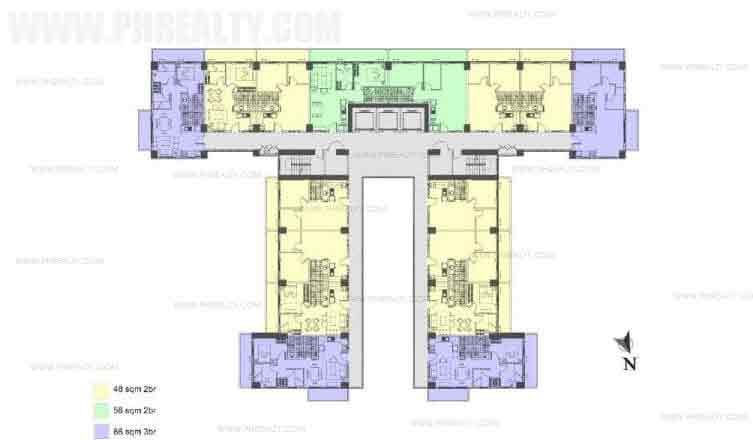 Illumina Residences Manila  - Typical Building Floor Plan without Studio