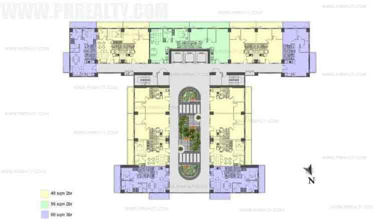 Illumina Residences Manila  - Typical Building Floor Plan without Studio Atrium Level
