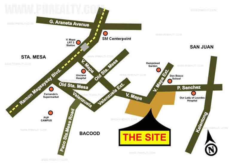 Illumina Residences Manila  - Location Map