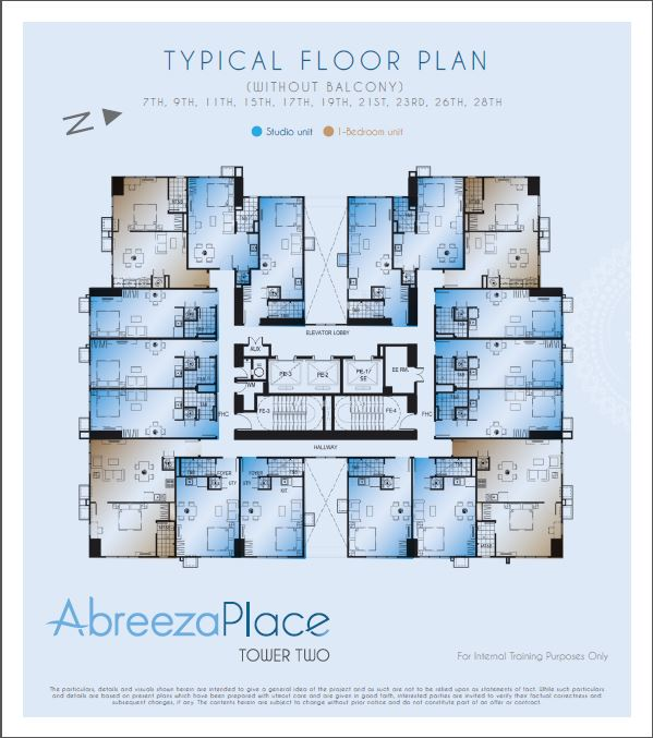 Abreeza Place - Tower 2 - Typical Floor Plan with Balcony