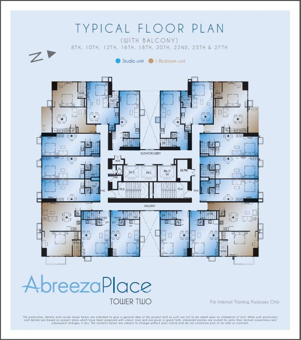 Abreeza Place - Tower 2 - Typical Floor Plan without Balcony