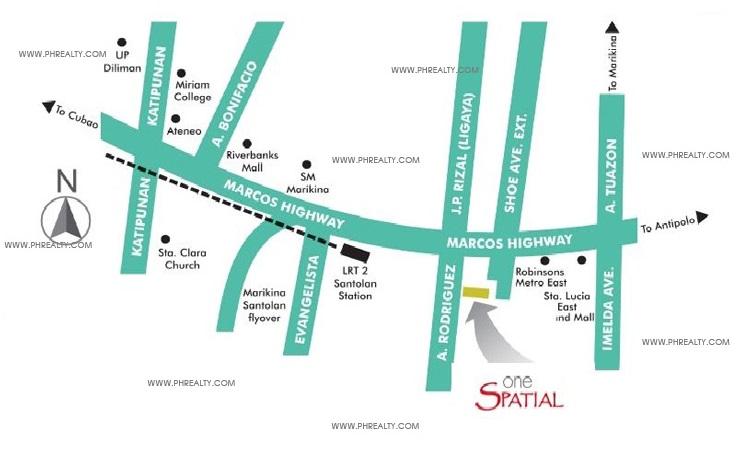 One Spatial Condos - Location
