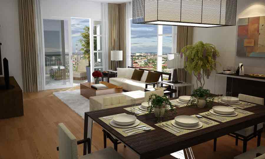 1016 Residences - Living Room