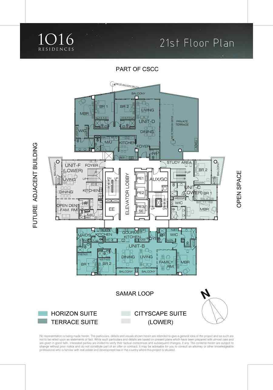 1016 Residences - 21st Floor Plan