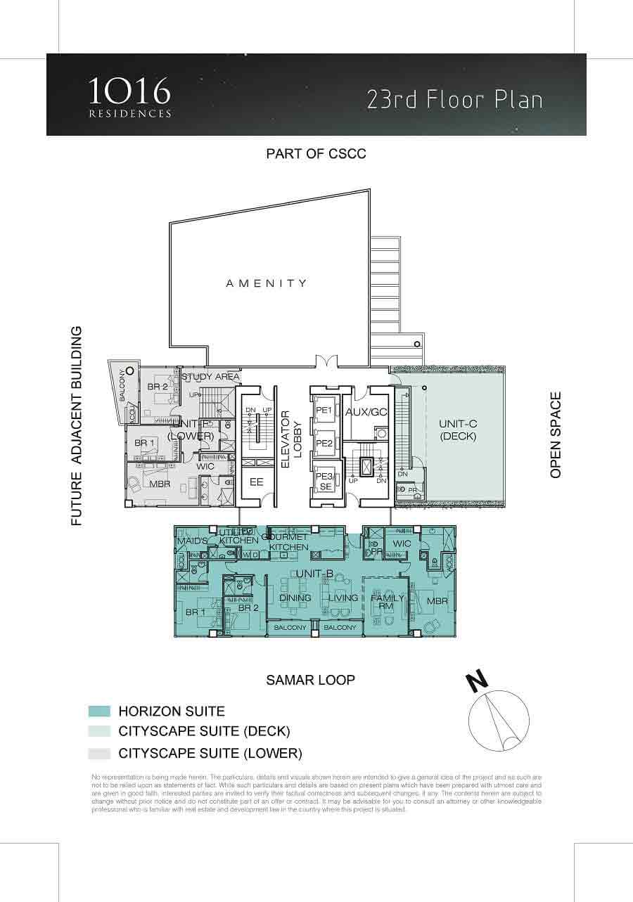 1016 Residences - 23rd Floor Plan