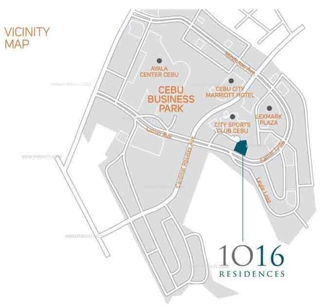 1016 Residences - Location Map