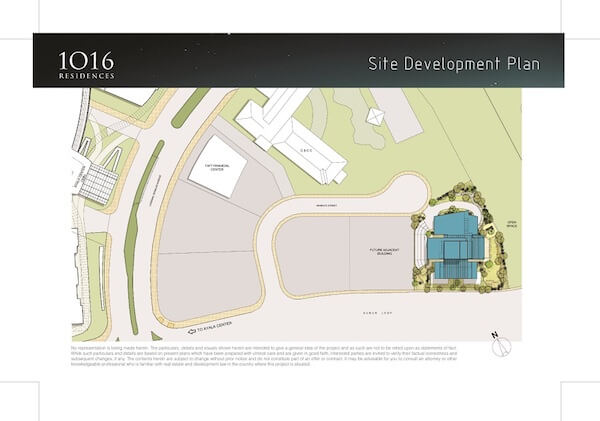 1016 Residences - Site Development Plan