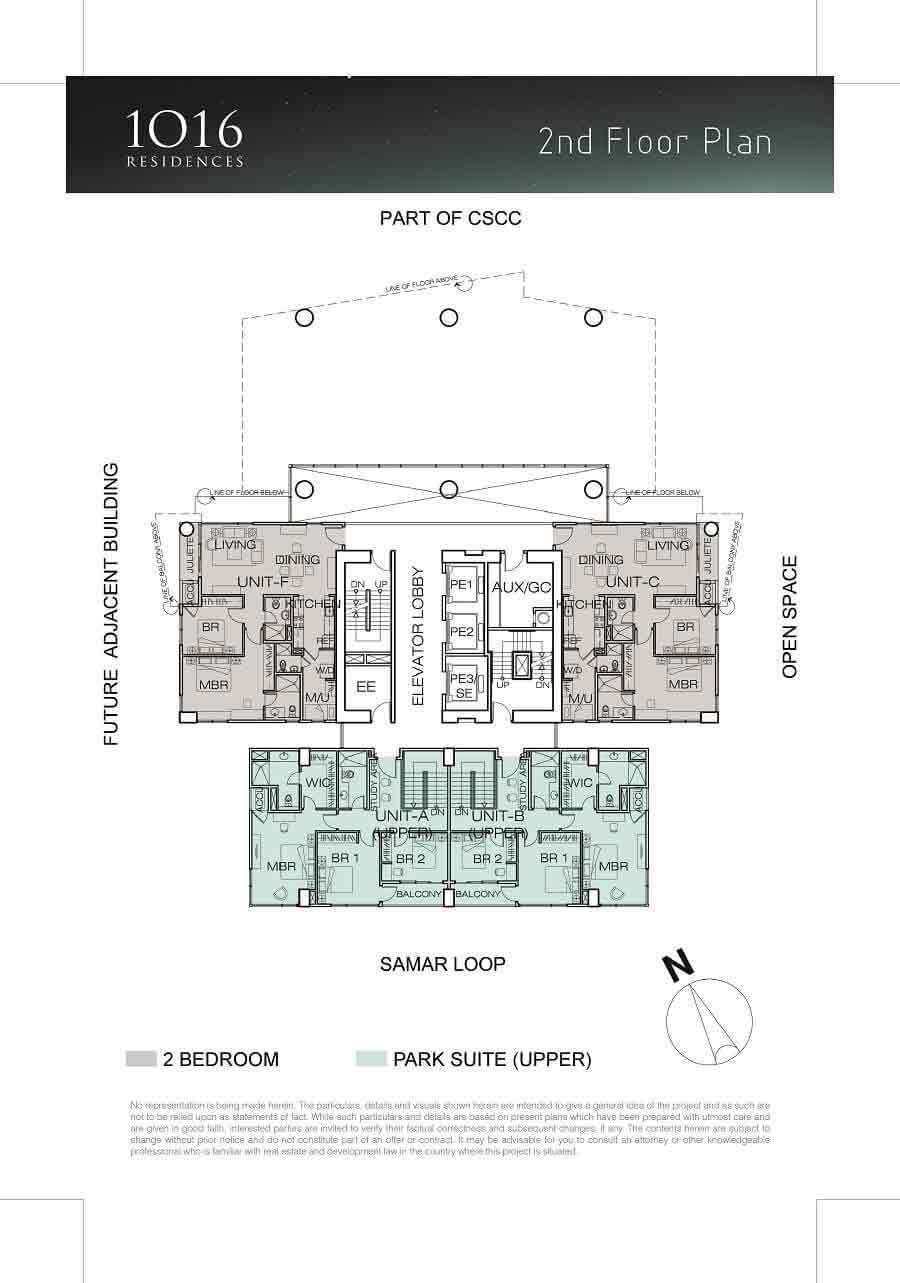1016 Residences - 2nd Floor Plan