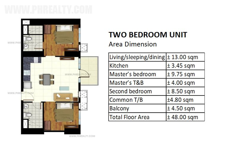 Azalea Place - Two Bedroom Unit