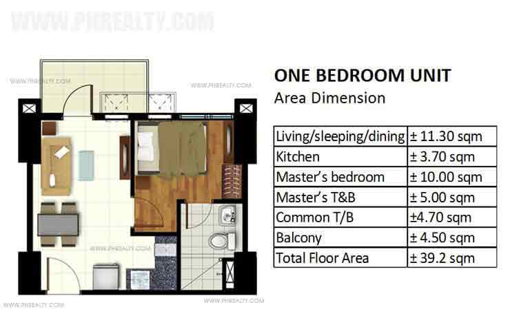 Azalea Place - One Bedroom Unit