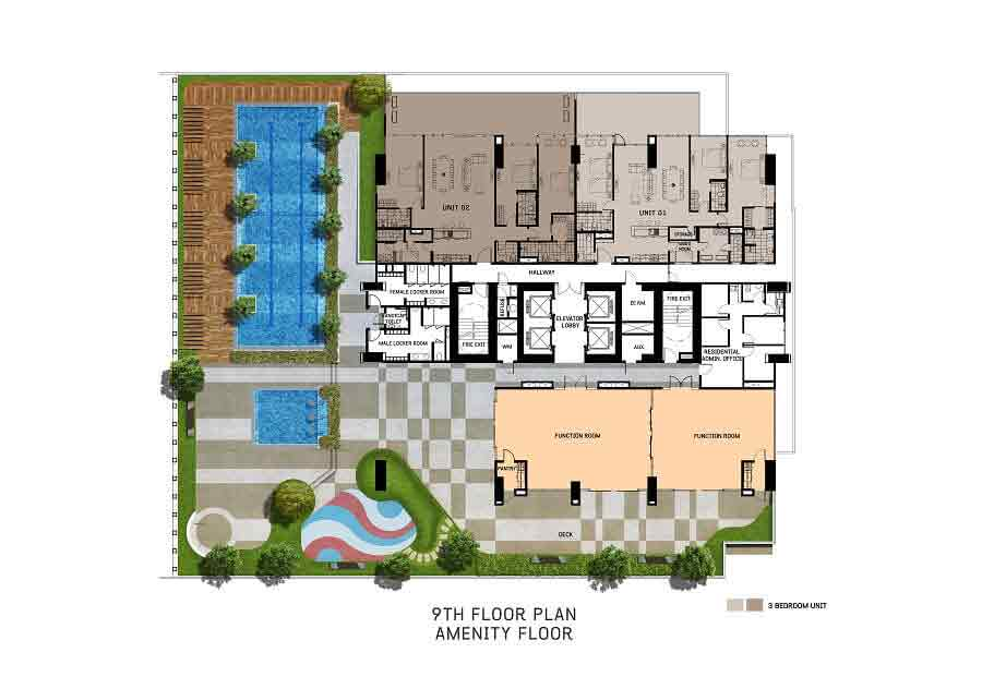 The Gentry Residences - 9th Floor Plan