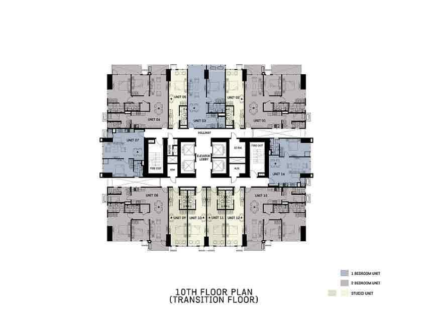 The Gentry Residences - 10th Floor Plan