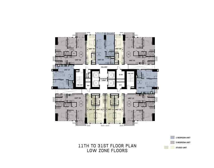 The Gentry Residences - 11th To 31st Floor Plan