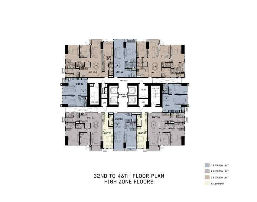 The Gentry Residences - 32nd To 46th Floor Plan