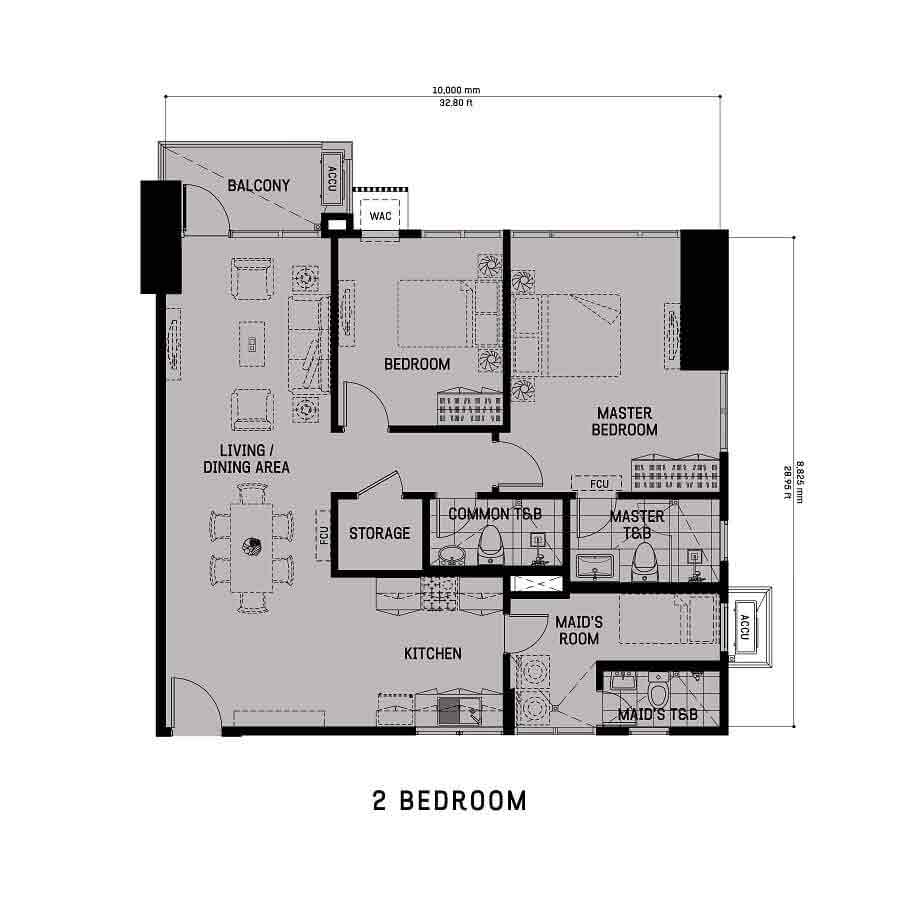 The Gentry Residences - 2 Bedroom